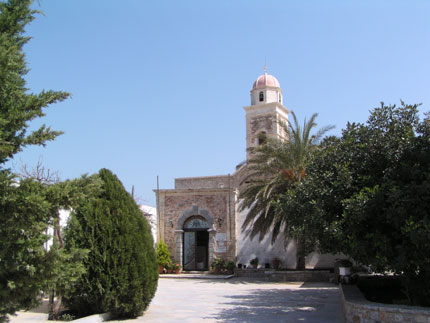 The entrance of Toplou Monastery