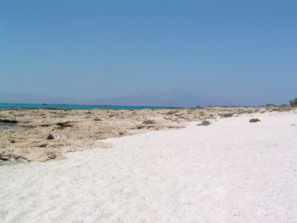 Beach in Chrisi island