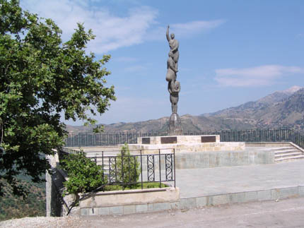 Monument in Laki village