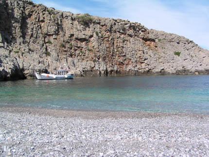 Η παραλία στις Μένιες