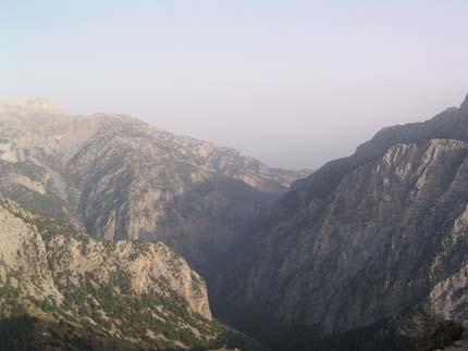 Ausblick von Kalergis auf Samaria und die Lefka Ori