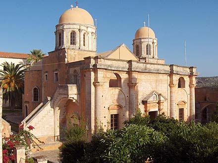 Agia Triada Monastery on the Akrotiri of Chania