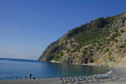 Η παραλία στην Αγιά Ρουμέλη