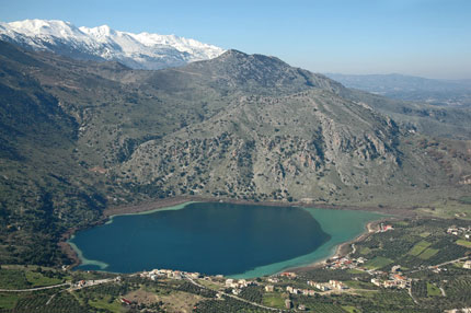 View to Kournas Lake