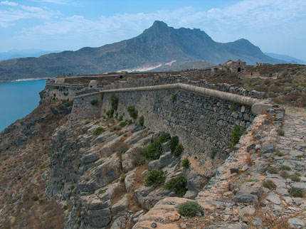 Burg auf der kleinen Insel Imeri Gramvousa