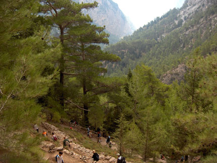 Crossing Samaria Gorge