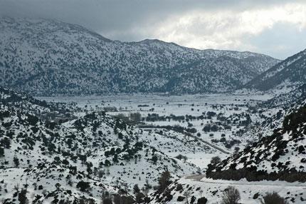 Verschneit Plateau
