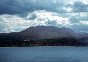 Berg Youktas und das Profil von Zeus