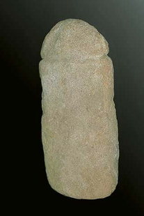 Phallus shaped idol from the Neolithic Cave of Pelektia, Zakros