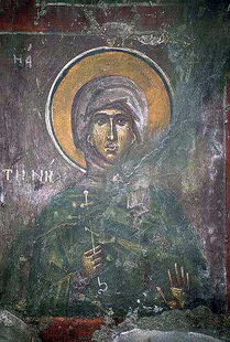 A fresco from Agios Georgios Church, Kavousi