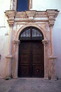 Venetian portal of the former San Francesco Church, Rethimnon