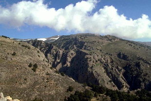 Imbros Gorge viewed from Sfakia