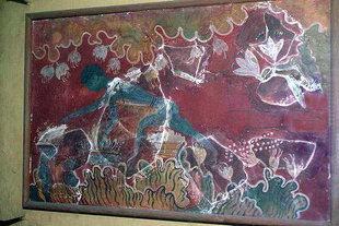 Saffron Gatherer fresco