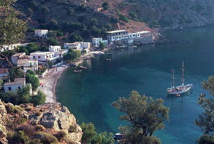 The village of Loutro in Sfakia