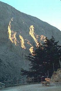 Les Lefka Ori vus du commencement des Gorges de Samaria