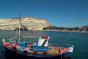 Les grottes et la plage à Matala