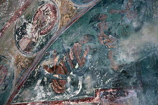 Punishment of the Damned fresco in Agios Pavlos, Agios Ioannis