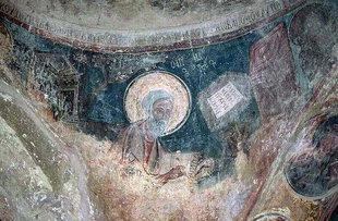 Der Evangelist Lukas in der Agios Pavlos-Kirche