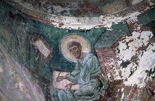 Der Evangelist Matthäus in der Agios Pavlos-Kirche, Agios Ioannis