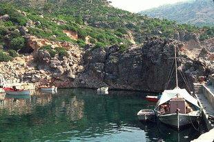 Der Fischerhafen von  Sougia