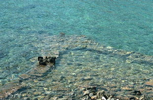The sunken city of Olous near Elounda