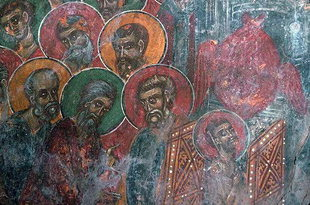 A fresco in the Panagia Church, Anisaraki