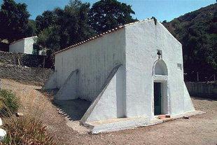 Die Agia Paraskevi-Kirche, oberhalb von Panagia, Kandanos