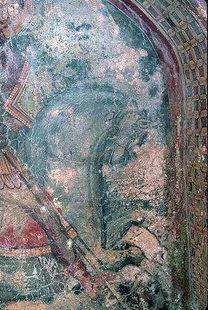 Une fresque de l'église de Michael Archangelos, Kavalariana