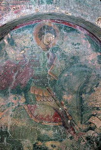 A fresco in Michael Archangelos Church, Kavalariana