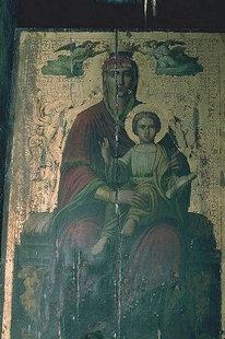 Ikone in der Agia Paraskevi-Kirche in Anisaraki