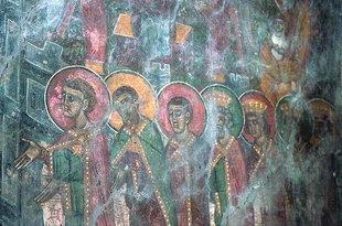 Fresko in der Agia Paraskevi-Kirche in Anisaraki