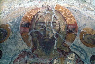 The Pantocrator in Sotiras Christos Church in Temenia