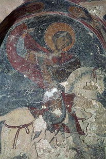 A fresco in Sotiras Christos Church in Temenia