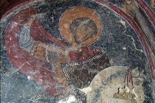 Μια τοιχογραφία στην εκκλησία του Σωτήρα Χριστού στα Τεμένια