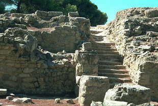 The staircase leading to the East Court, Festos