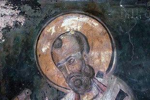 A 13C fresco in the church of Agios Georgios Galatas, Agia Triada