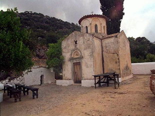The cruciform church of the Panagia Gouverniotissa Monastery, Potamies