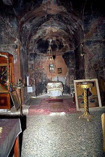 Interior of the Panagia Gouverniotissa Monastery church, Potamies