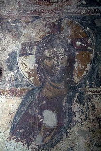 A fresco in  Agios Georgios in Tzitzifes