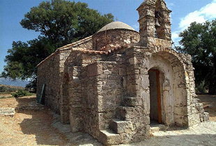 Die byzantinische Sotiras Christos-Kirche in Temenia