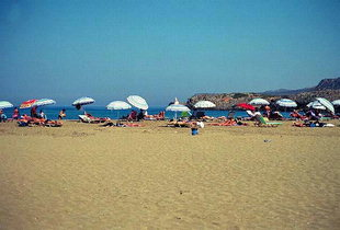 Malia beach near the archaeological site