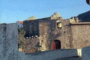 Une scène dans l'ancien village de Filaki, Kournas
