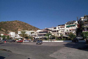 The main square of Agia Galini