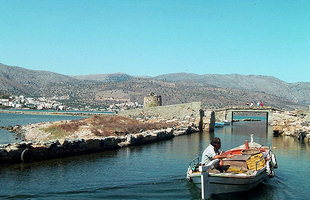 The causeway to Spinalonga