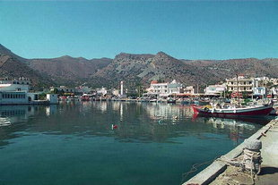 The Elounda fishing harbour
