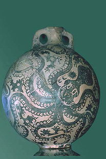 New Palace Period Octopus flask from Palaikastro
