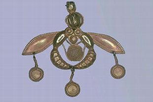 Pendentif exquis en or de Malia