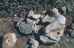 Le Lion de Saint Marc à l'entrée du fort, Gramvousa