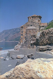 The Byzantine church of Agios Pavlos near Agia Roumeli