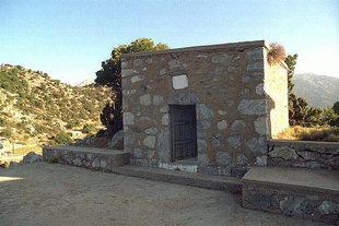 Hatzi Michalis Yannaris' grave in Omalos